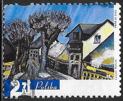 Poland 3632 Used - ‭‭Paintings by Disabled Artists  - ‭Lucjan Matula
