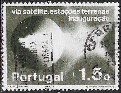 Portugal 1201 Used - ‭Establishment Of Satellite Communications Network - ‭Pattern of Light Emission