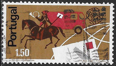 Portugal 1220 Used - Centenary of the UPU - ‭Postilion, Truck & Letter