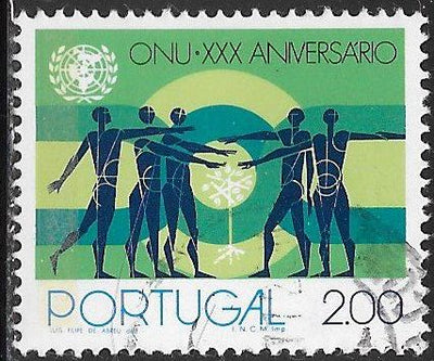 Portugal 1260 Used - ‭United Nations, 30th Anniversary