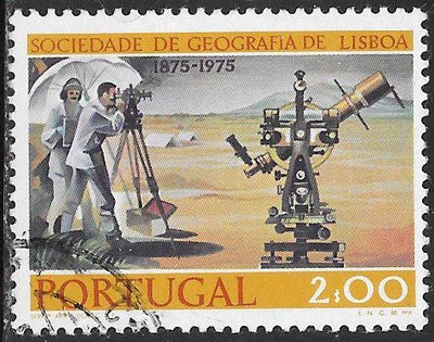 Portugal 1267 Used - ‭‭Centenary of Lisbon Geographical Society - Land Survey