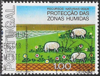 Portugal 1307 Used - ‭Protection of Wetlands - Sheep Grazing