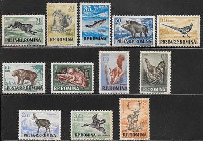 Romania 1082-1093 MNH - 1082 has Tear - Animals