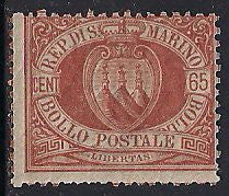 San Marino 20 Unused/Hinged - Coat of Arms