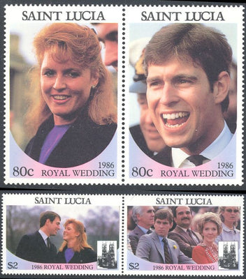 St. Lucia 839-840 MNH - 1986 Royal Wedding