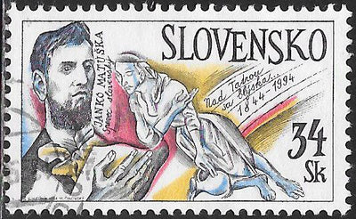 "Slovakia 191 Used - ‭Janko Matuska, Lyricist, 150th Death Anniversary - ‭""A Well She Dug"""