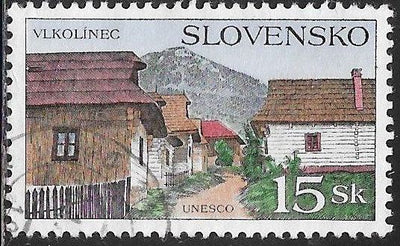 Slovakia 230 Used - ‭UNESCO World Heritage Sites - Vlkolínec