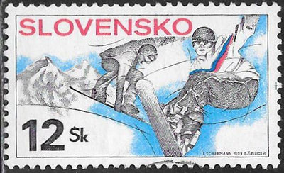 Slovakia 319 Used - ‭‭19th World Winter Universiad Games, 4th European Youth Olympic Days