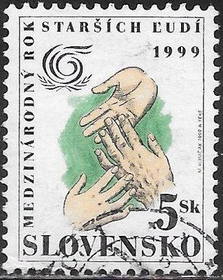 Slovakia 332 Used - ‭‭‭International Year of Older Persons
