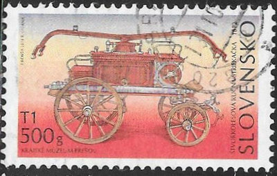 Slovakia 541 Used - Classic Fire Pumpers - ‭1872 Smekal Fire Pumper