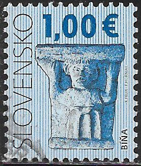 Slovakia 567 Used - ‭‭Capital from Church of the Virgin Mary, Bina