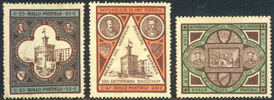 San Marino 29-31 Unused/Hinged - Government Palace & Portraits