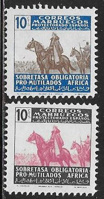 Spanish Morocco RA14-RA15 MNH - General Francisco Franco