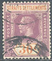 Straights Settlements 195 Used - George V