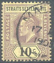 Straights Settlements 98 Used - Edward VII