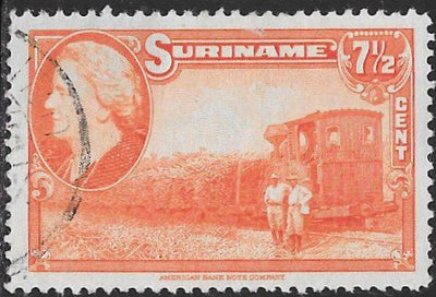 Suriname 192 Used - ‭Sugar Cane Train - ‭Queen Wilhelmina
