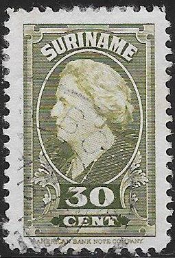 Suriname 198  Used - ‭Queen Wilhelmina