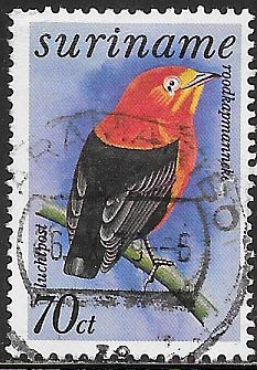 Suriname C67 Used - Birds - Manakin