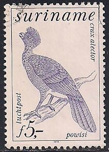 Suriname C88 Used - Bird - Crested Curassow