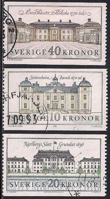 Sweden 1841 & 1874-1877 Used - Palaces