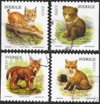 Sweden 2518a-2518d  Used - Juvenile Wild Animals