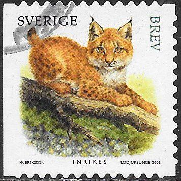 Sweden 2518a Used - Juvenile Wild Animals - Lynx