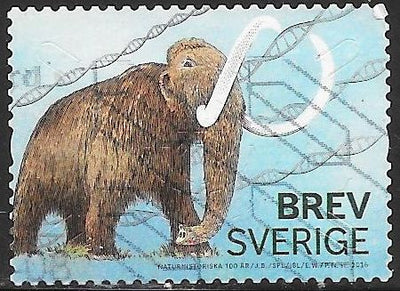 Sweden 2768e Used - ‭‭Museum of Natural History, Cent - ‭Siberian Mammoth, Double Helix Strands