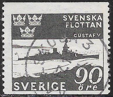 Sweden 355 Used - ‭Tercentenary of the Swedish Naval Victory at Femern, 1644 - Ship (Gustaf V)