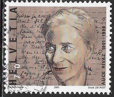 Switzerland 1093 Used - ‭Alice Rivaz (1901-98), Writer