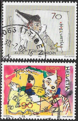 Switzerland 1121-1122 Used -‭ Europa - Circus Clowns
