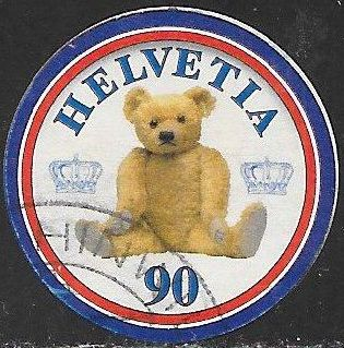Switzerland 1123e Used - Teddy Bear Centenary - England