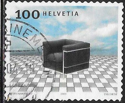 Switzerland 1169 Used -‭ ‭Swiss Design - ‭‭Le Fauteuil Grand Confort (Black Armchair)