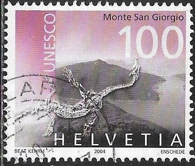 Switzerland 1186 Used -‭ ‭UNESCO World Heritage - ‭Monte San Giorgio