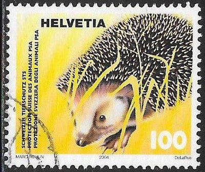 Switzerland 1192 Used -‭ ‭‭Animal Protection - Hedgehog