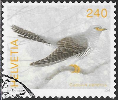 Switzerland 1230 Used -‭ Bird - Common Cuckoo (‭Cuculus Canorus)