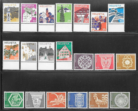 Switzerland 558-579 MNH - Buildings - Art