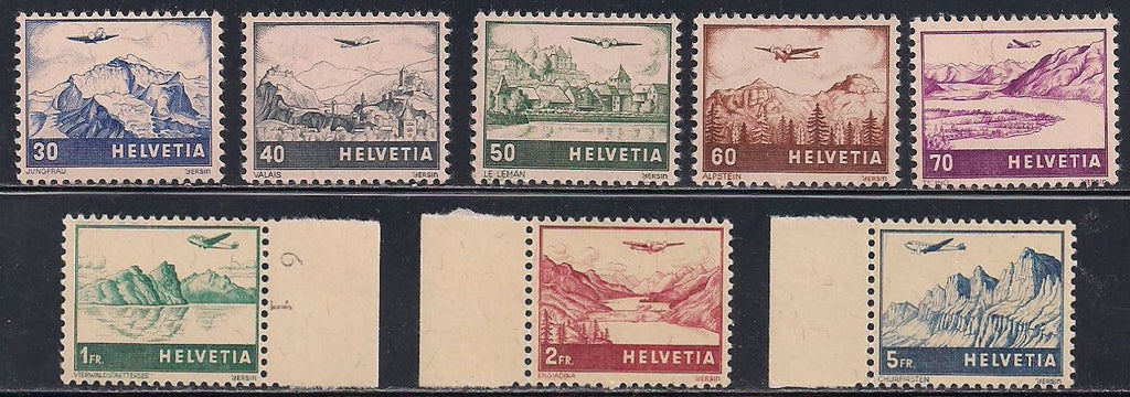 Switzerland C27-C34 MNH - Views