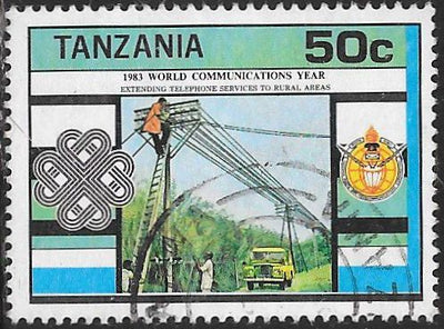 Tanzania 229 Used - ‭World Communications Year - ‭Rural Telephone Service