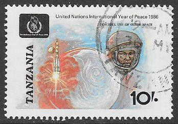 Tanzania 353 Used - International Peace Year