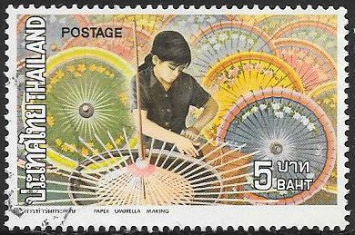 Thailand 665 Used - Thai Handicrafts - Paper Umbrellas