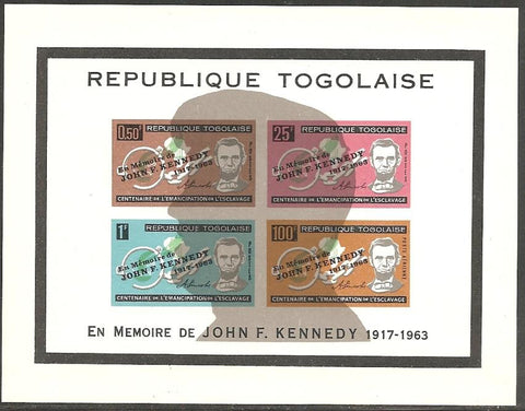 Togo C41a MNH - with Silhouette - Lincoln/Kennedy