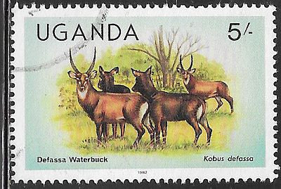 Uganda 289a Used - Waterbucks - Inscribed 1982