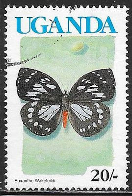 Uganda 705 Used - Butterfly - Forest Queen