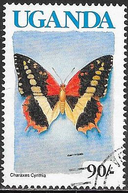 Uganda 710 Used - Butterfly - Western Red Charaxes