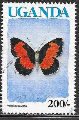 Uganda 713 Used - Butterfly - Lady's Maid