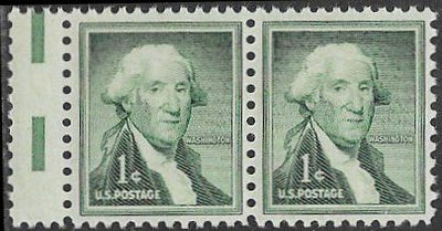 US 1031 MNH Pair - Washington - Vertical Gutter Snipe
