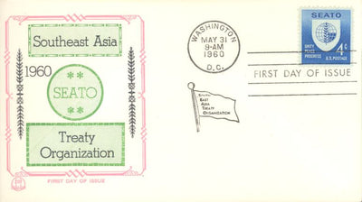 US 1151 FDC Tri-Color - SEATO