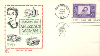 US 1152 FDC Tri-Color - American Woman