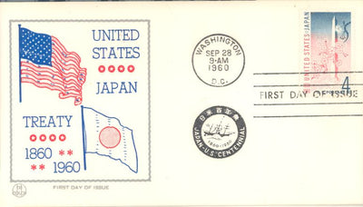 US 1158 FDC Tri-Color - U.S. Japan Treaty
