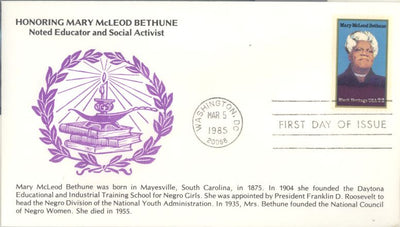 US 2137 FDC - KMC Ventures - Mary McLeod Bethune